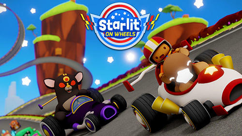 Starlit on wheels: Super kart captura de tela 1