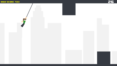 Pixel rope: Endless rope swing for Android