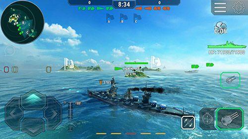 Экшен (Action) игры: скачать Warships universe: Naval battle на телефон