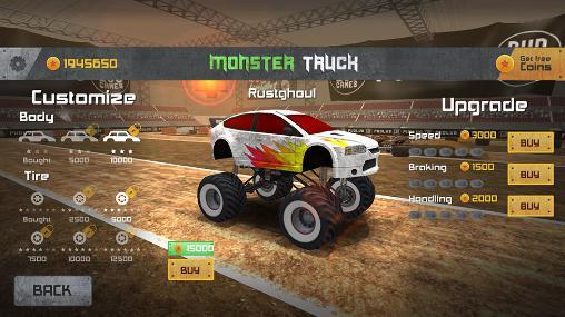 Rennspiele Monster truck race für das Smartphone