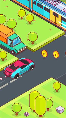 Arcade-Spiele Speedy car: Endless rush für das Smartphone