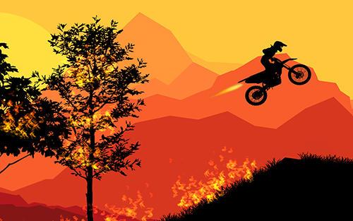 Arcade Sunset bike racer: Motocross für das Smartphone