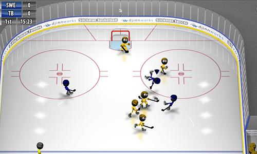Hockey Stickman ice hockey in English