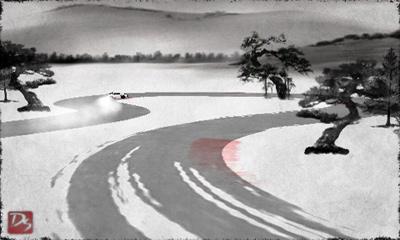 Schnee-Drift auf Deutsch