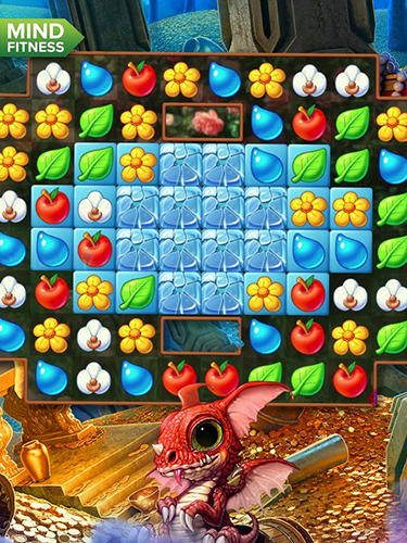 Match 3 games Frozen flowers in English