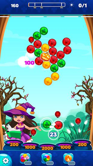 Bubble games Halloween town: Bubble shooter in English