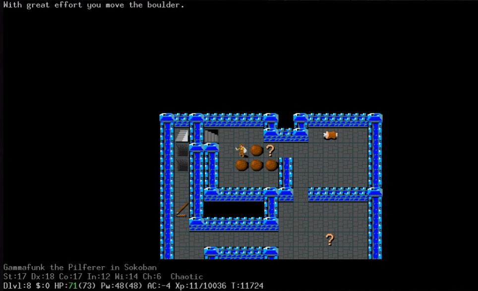 NetHack screenshot 1