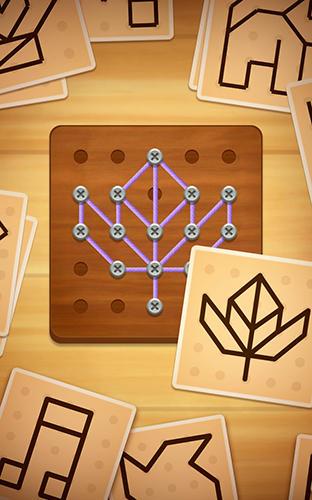 Logikspiele Line puzzle: String art für das Smartphone