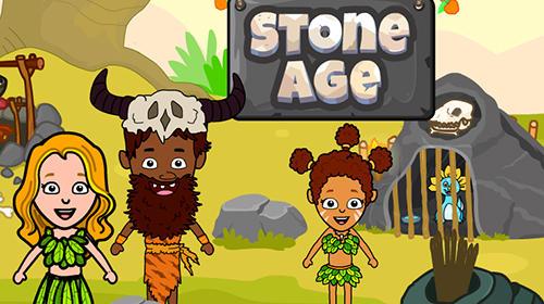 My stone age town: Jurassic caveman games for kids screenshot 1