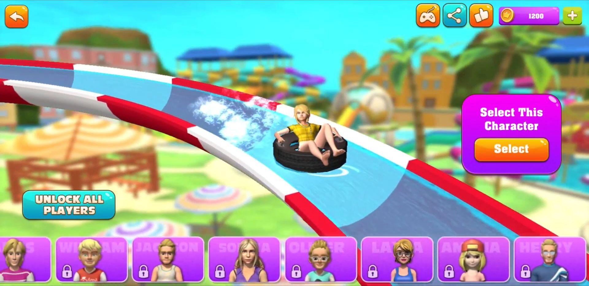 Pool Ride - Water Park Racing скриншот 1