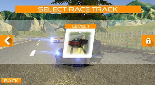 Rennspiele Fast lane car racer für das Smartphone