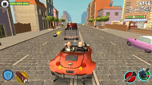 Car games Mortadelo and Filemon: Frenzy drive in English