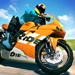 Bike racing rider icono