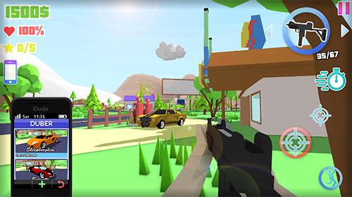 FPS-Spiele Dude theft auto: Open world sandbox simulator auf Deutsch