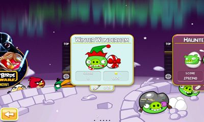 Arcade Angry Birds Seasons Winter Wonderham! für das Smartphone