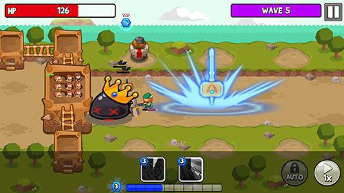 Strategiespiele Grow tower: Castle defender TD für das Smartphone