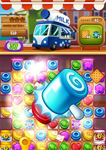 Аркады: скачать Food pop: New puzzle gravity world. Food burst 2на телефон