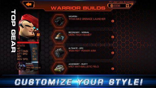 Actionspiele Warriors of the red planet für das Smartphone