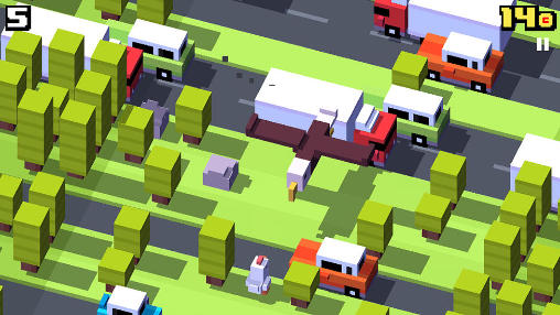 Arcade games: download Crossy road to your phone