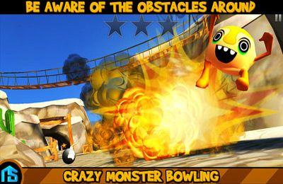 截图疯狂保龄球怪兽在iPhone
