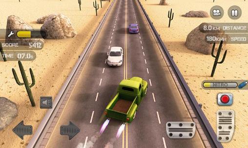 Rennspiele Race the traffic nitro für das Smartphone