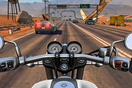 Moto rider go: Highway traffic for Android