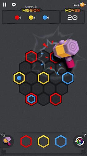 Скриншот Hexa blast: Block puzzle на андроид