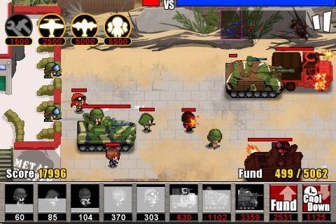 Screenshot Armee Krieg: Abwehr 2 auf dem iPhone