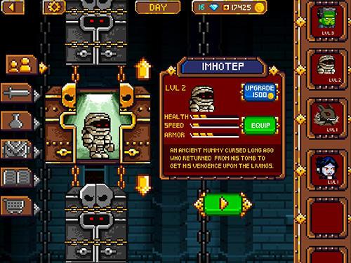 Arcade-Spiele Dracula, Frankenstein and Co vs the villagers für das Smartphone