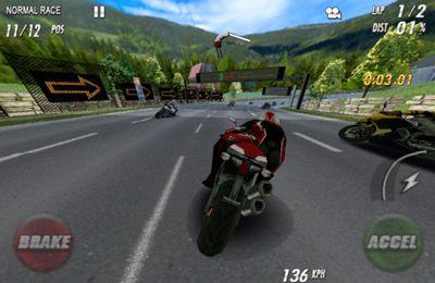iPhone用ゲーム ストリートバイク。フルブラスト のスクリーンショット
