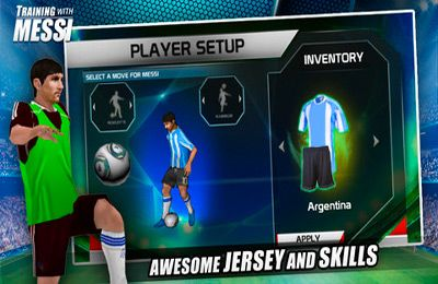 Multiplayer games: download Training with Messi – Official Lionel Messi Game to your phone