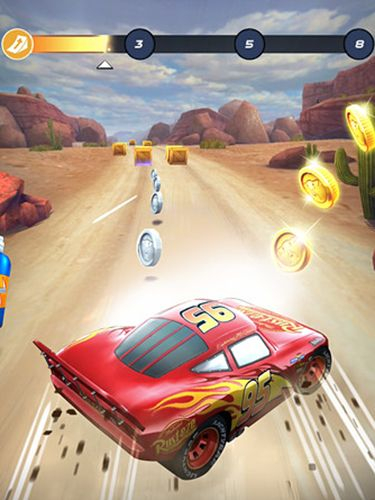Аркады игры: Cars: Lightning league на телефон iOS