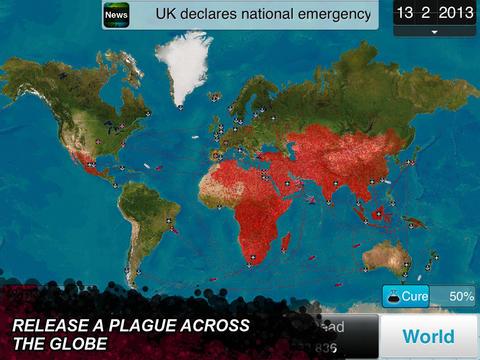 Screenshot Plague inc on iPhone