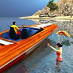 Beach lifeguard rescue duty Symbol