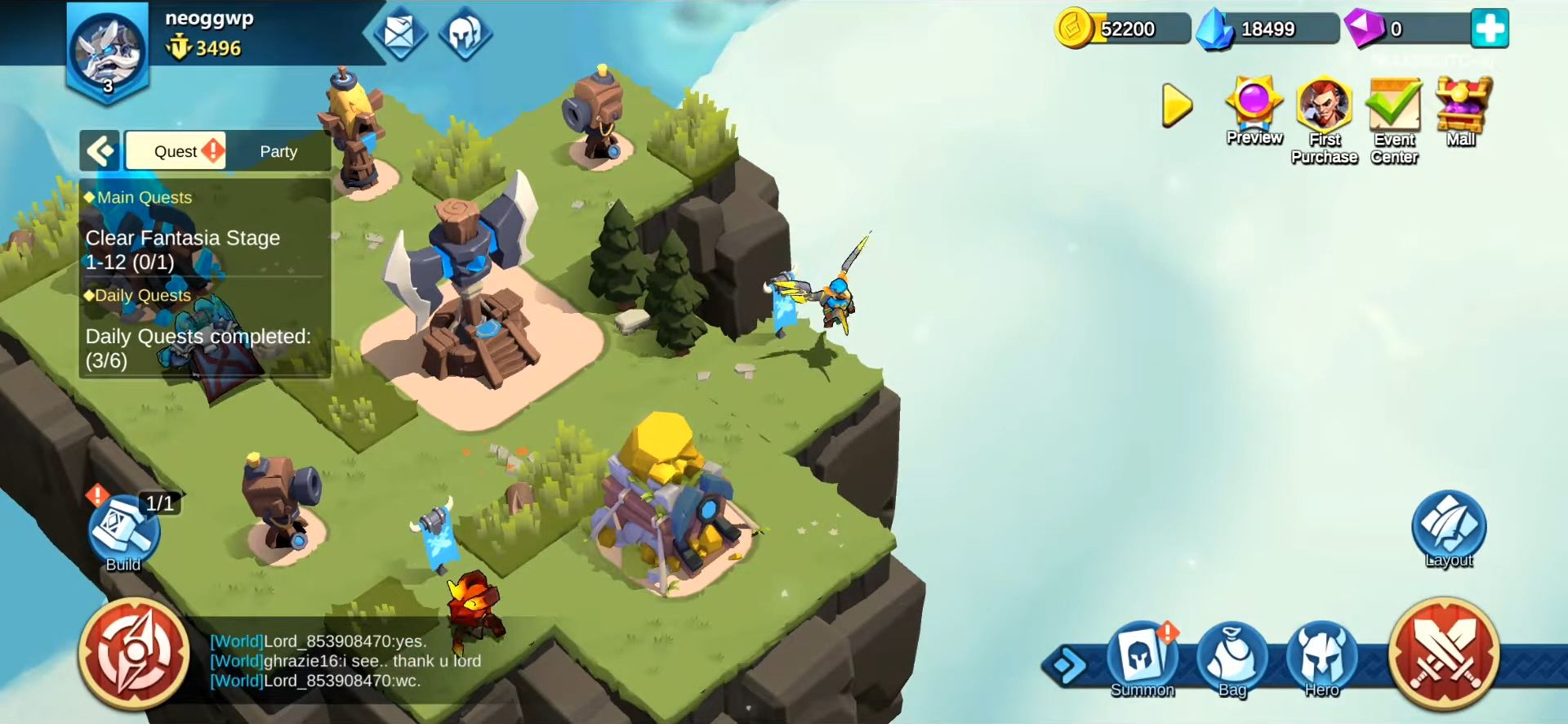 Fortress Isles: Sky War screenshot 1