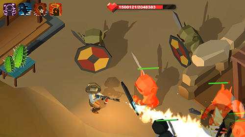 Actionspiele Deadland cowboy: Zombie bone killer für das Smartphone