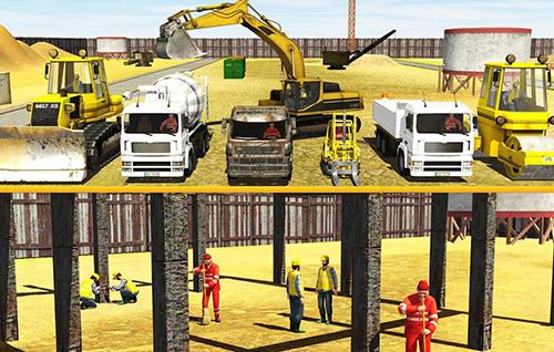 City builder: Construction trucks sim auf Deutsch