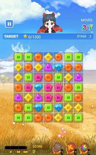 3 Gewinnt-Spiele Kemono friends: The puzzle auf Deutsch