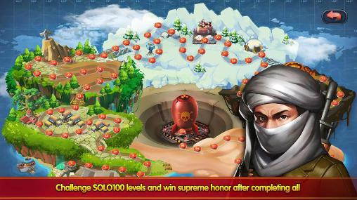 Tower defense games Little commander 2: Global war in English