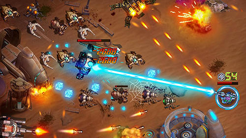 Shooter aus der Vogelperspekti Infinite fire: Swarm assault auf Deutsch