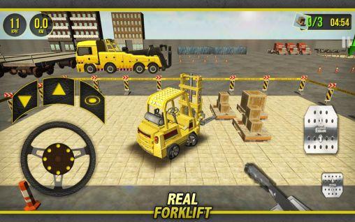 Simulator-Spiele Forklift simulator 3D 2014 für das Smartphone