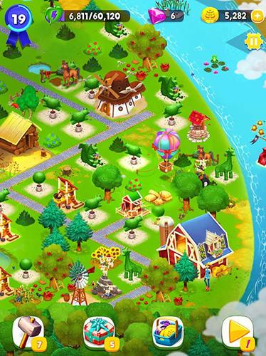 3 Gewinnt-Spiele Farm slam: Match and build auf Deutsch