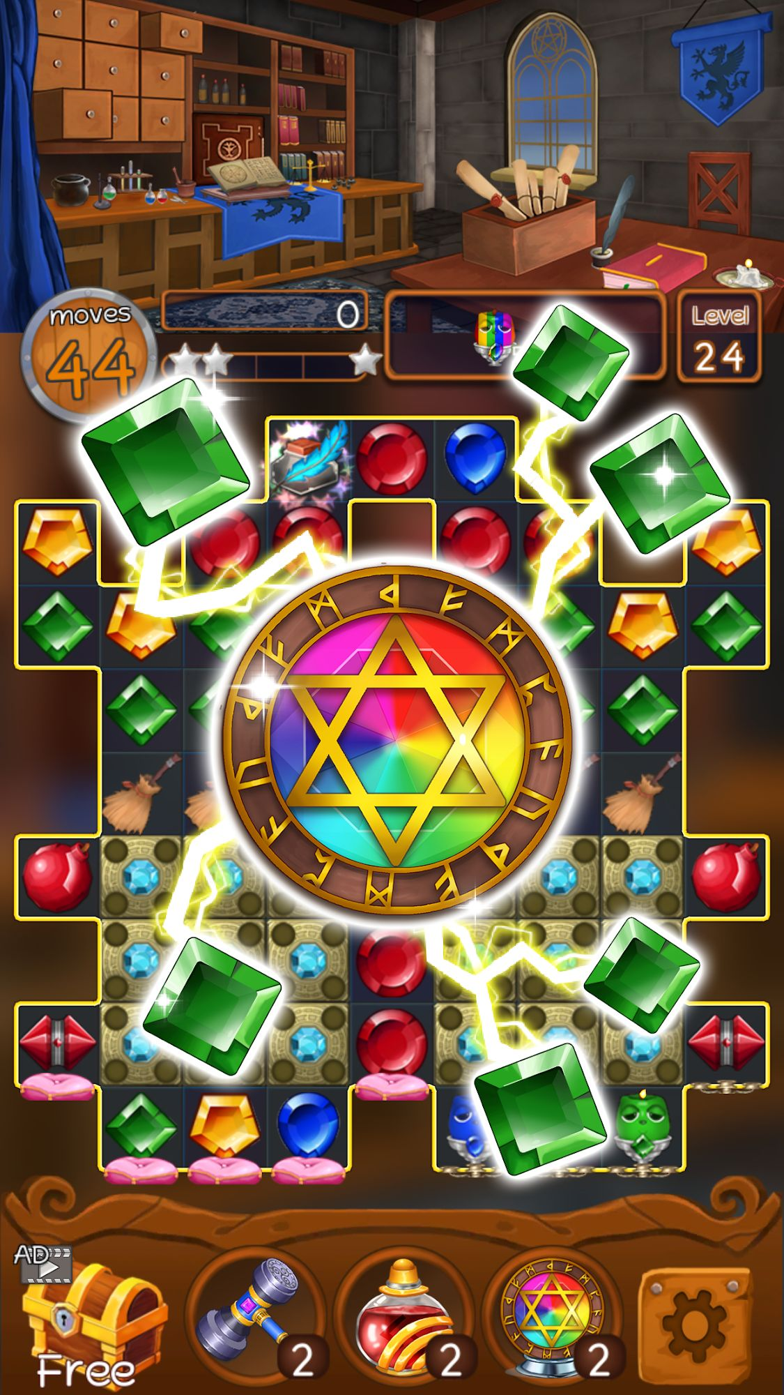 Jewels Magic Kingdom: Match-3 puzzle скриншот 1