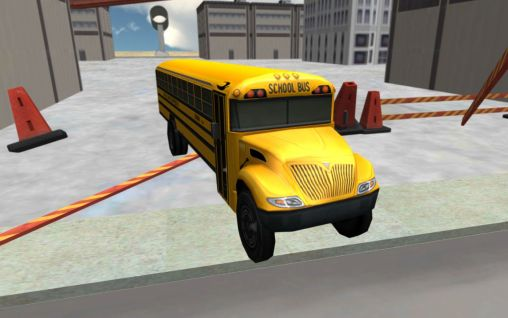 School bus driving 3D Screenshot