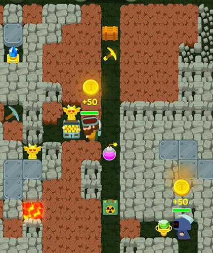 Arcade-Spiele Dig bombers: PvP multiplayer digging fight für das Smartphone