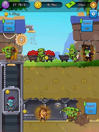 Idle goblin miner world für Android