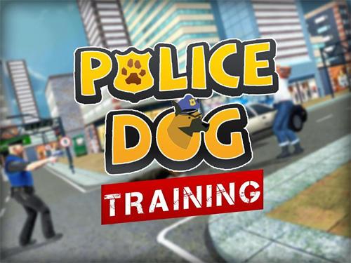 Police dog training simulator Symbol