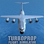 Turboprop flight simulator 3D Symbol