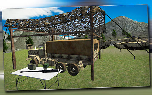 Simulação Army truck driver 3Dpara smartphone