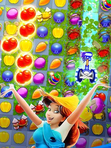 Arcade-Spiele Farm slam: Match and build für das Smartphone